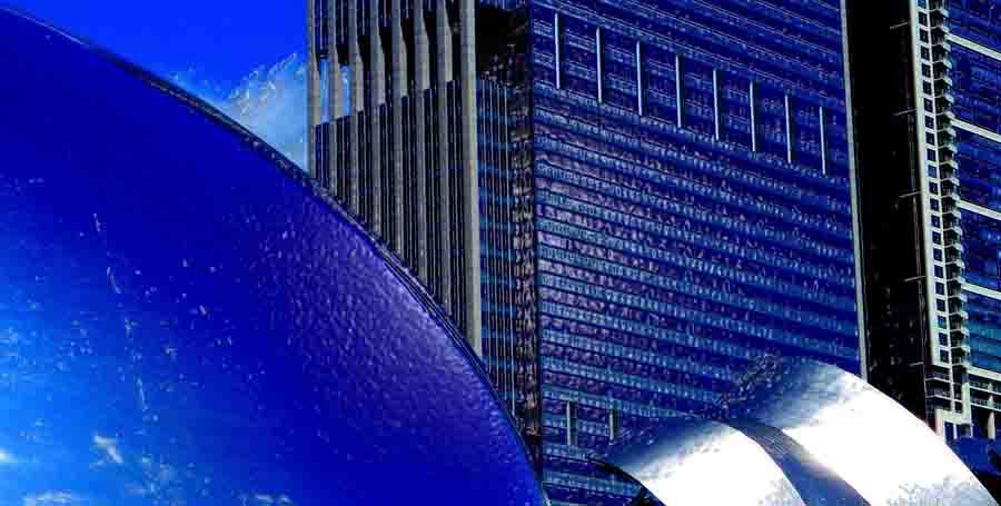 cloud gate sculpture grant park chicago illinois, photo