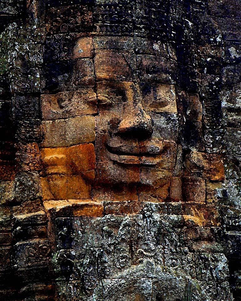 khmer angkor thom cambodia buddha, photo