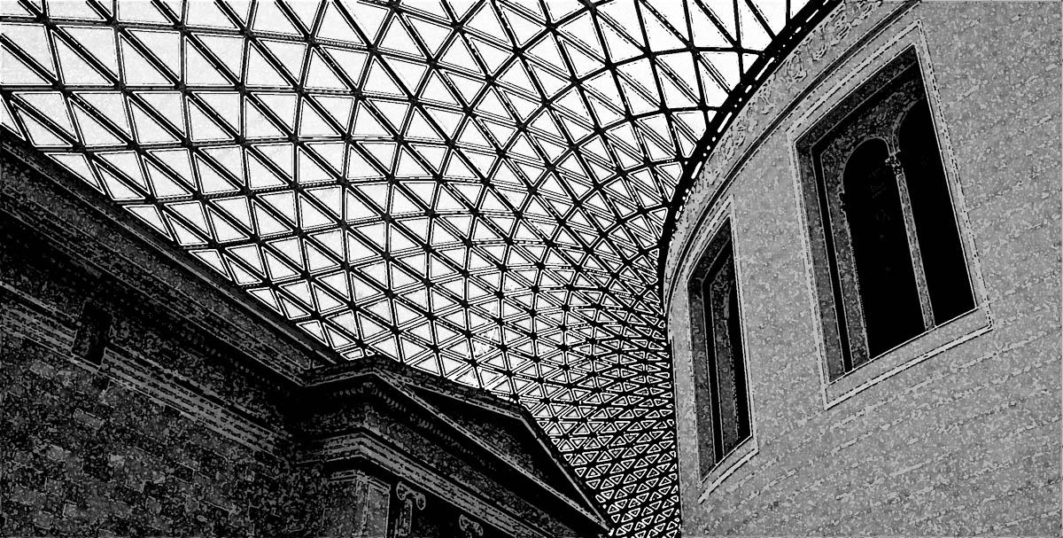 british museum courtyard london, photo