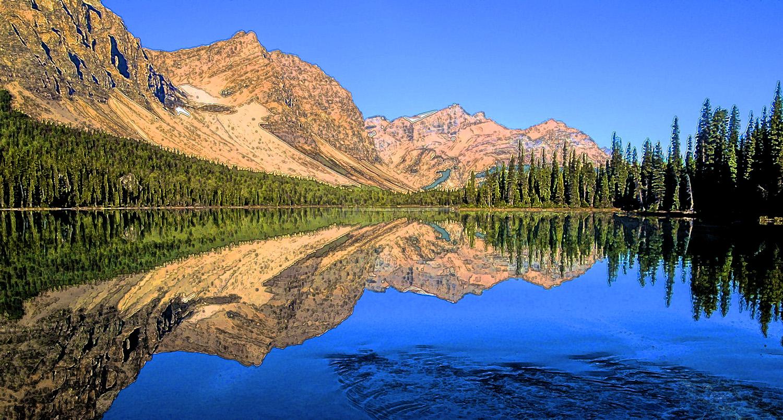 bow lake banff park, photo